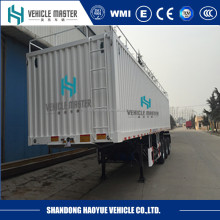 2 axles box semi trailer for transporting dry box van cargo