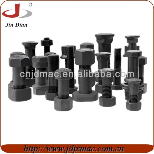 excavator track bolt and nut track shoe bolts nuts bolt with nut