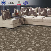 10 wool 90 polyester jacquard broadloom carpet , flower design woollen carpets