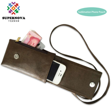 Custom Made blank mobile phone case, sublimation cell phone leather traveling hand bag