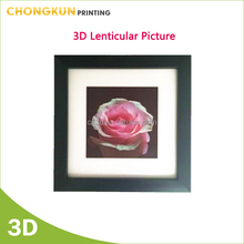 Modern style 3d lenticular picture with plastic picture frame nice for home deco