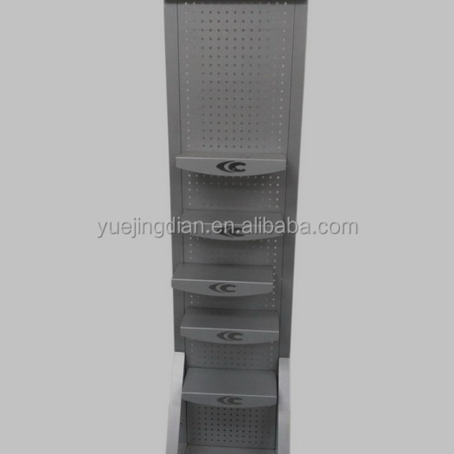 Multilayers shoe display stand with removable shelf brackets