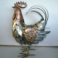 Metal rooster decoration animal figurines wholesale