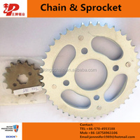 Import OEM Quality china Motorcycle parts chain sprocket CG125