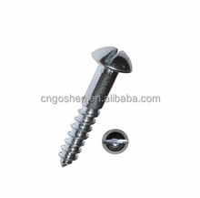 DIN7971 A2-70,A4-80 M1.6-M8 stainless steel pan head slotted half thread self tapping screw