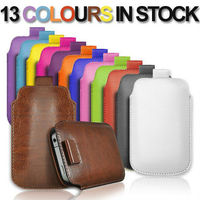 New arrival!!! Pull Tab Leather Skin Pouch Pocket genuine Leather Cover Case For iphone 4 4s
