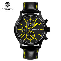 China Factory Luxury Design Branded Leather Band Men Watches Quartz Watch