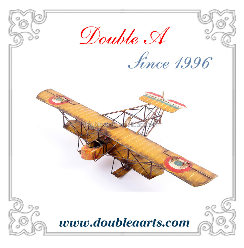 Wholesale creative design metal airplane model antique handmade iron crafts collection hand made home decor