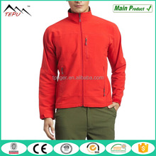 2017 Windbreaker Stand Collar Red Softshell Men's Simple Trekking Jacket
