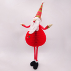 71cm standing Christmas chart paper decoration santa claus