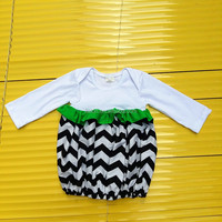 Kids toddle girls dress infant chevron long sleeve gown Custom size girl's Boutique night gown