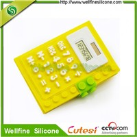 Best promotional goft with silicone made calculator with notepad
