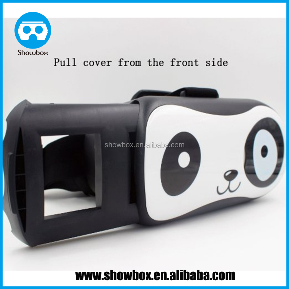 VR box Glasses Google Cardboard Virtual Reality 3D Glasses Like Panda Design For 4~6 inch IOS and Android Phone