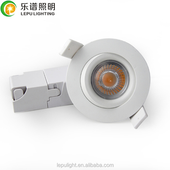 0-100% dimming gyro lamp 68mm cut hole warm 2700k 3000k mini led downlight with 5years warrnaty