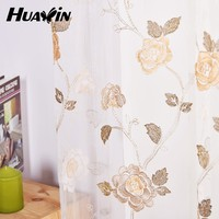 2015 hot selling polyester mesh fabric hing quality sheer curtains