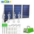 30W Solar powered power system kit with converter and 4 bulb lamps