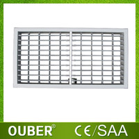 Automatic square air diffuser for evaporative air cooler, air vent outlet diffuser grille