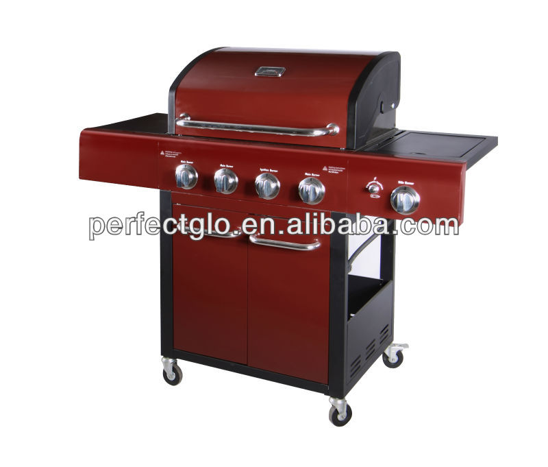 4 Buners Gas Stove Iron BBQ Grill