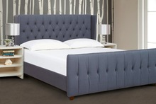 Bedroom Furniture French upholstered latest double bed designs