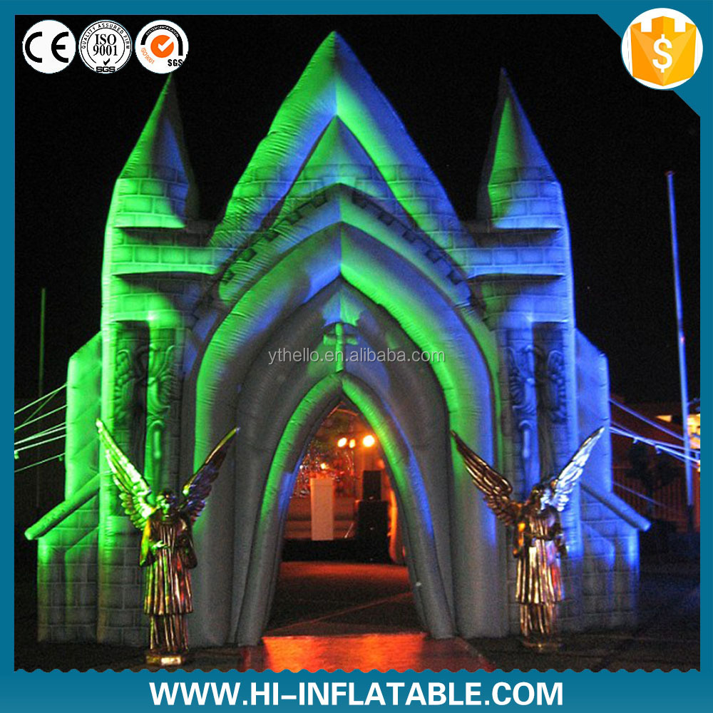 Creative inflatable wedding events church tent,inflatable chapel,inflatable church for rental
