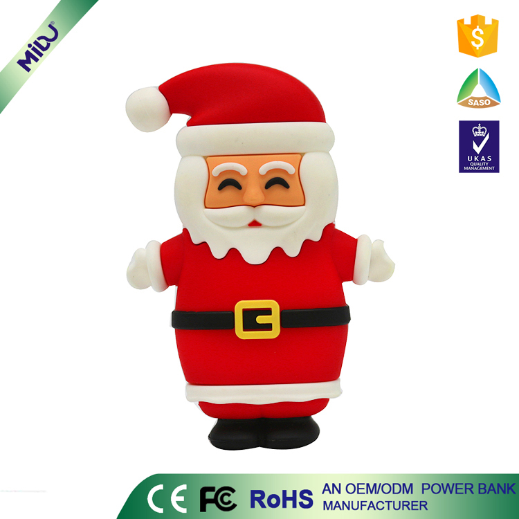 Promotional Gift! 5800mAh Santa Claus Mobile Power Bank for iPhone iPad Smartphone Made in China