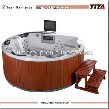 6 Persons Round Outdoor Spa Tub