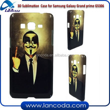 Full wrapped 3D sublimation cover for Samsung Galaxy Grand prime G5306,sublimation phone cover,sublimation mobile phone case
