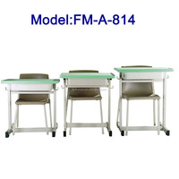 No.FM-A-814 Modern school desk and chair