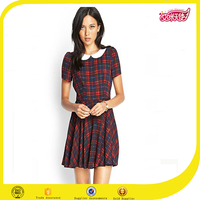 japanese free prom dress sexy nighty dress picture black and red polo blouse pleated school short skirt