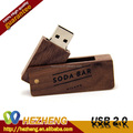 Free Logo Wooden Swivel 512MB USB with CE