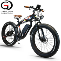 GaeaCycle strong power fat tire electric chopper bicycle beach cruiser electric bike