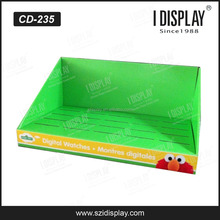 CUSTOM top sell 1 euro store pop cardboard counter display for watch