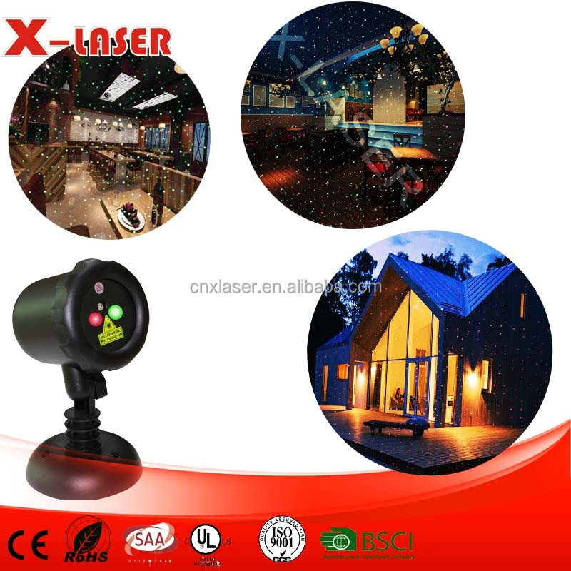 programmable laser lights show projector red and green colors sparkle landscape lights
