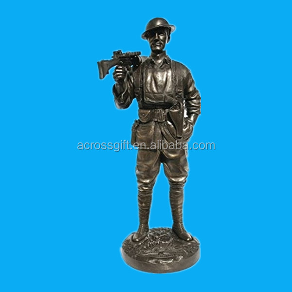 "resin military figure Australian ""Roy"" - Lewis Gunner - 1st AIF France 1918 - 1/6th Scale Bronze over Resin 12"" Military Statue"