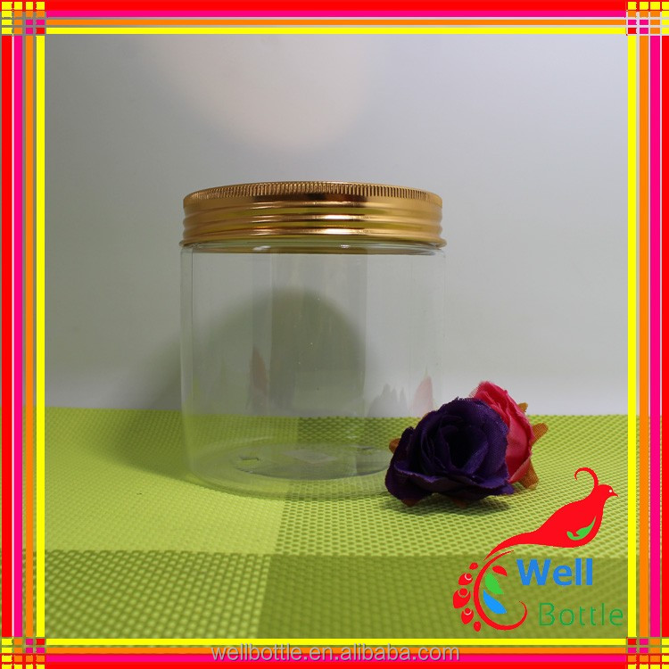 Recycled plastic cosmetic jars with tall plastic jars for 250g plastic cosmetic jars