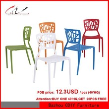 plastic stackable dining chair
