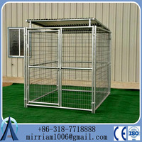 Manufacturer wholesale welded wire mesh large dog cage, welded wire dog kennel