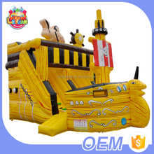 Environmental-Friendly Pvc Material Kids Amusement Park Stair Toys Pirate Boat Inflatable Theme Slide