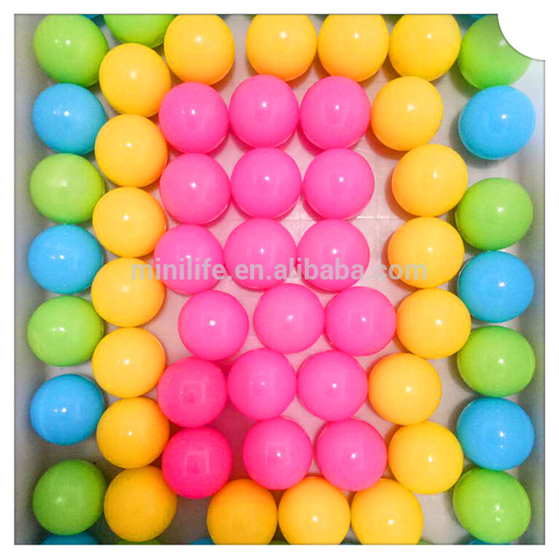 55mm PE Colorful Baby Ocean Ball, Pit Balls, Bathing Toy Soft Hollow Plastic Balls