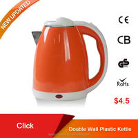 1.8L double walls electric kettle with keep warm tea tray