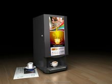 Automatic hot tea coffee juice vendor /Hotel office station vending machine