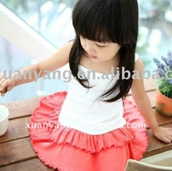 Summer Kids Sweet Beautiful Short Dress Children Pettiskirt For Girls