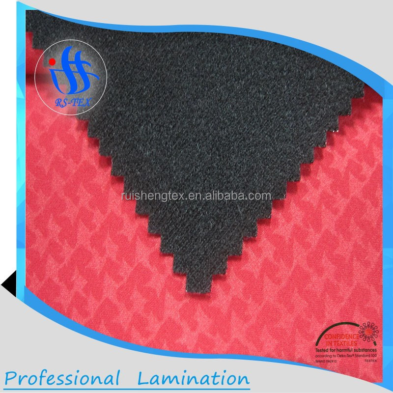 Functional 3 layer 4 way spandex TPU membrane laminated softshell fabric