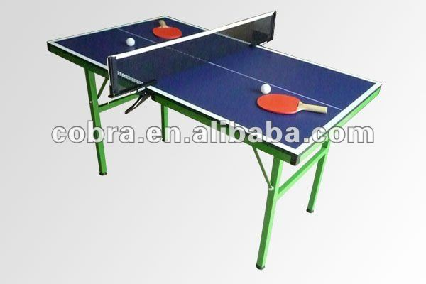Green printed MDF Promotion Foldable Tennis Table,12mm topfield,full sets accessory,indoor for kids