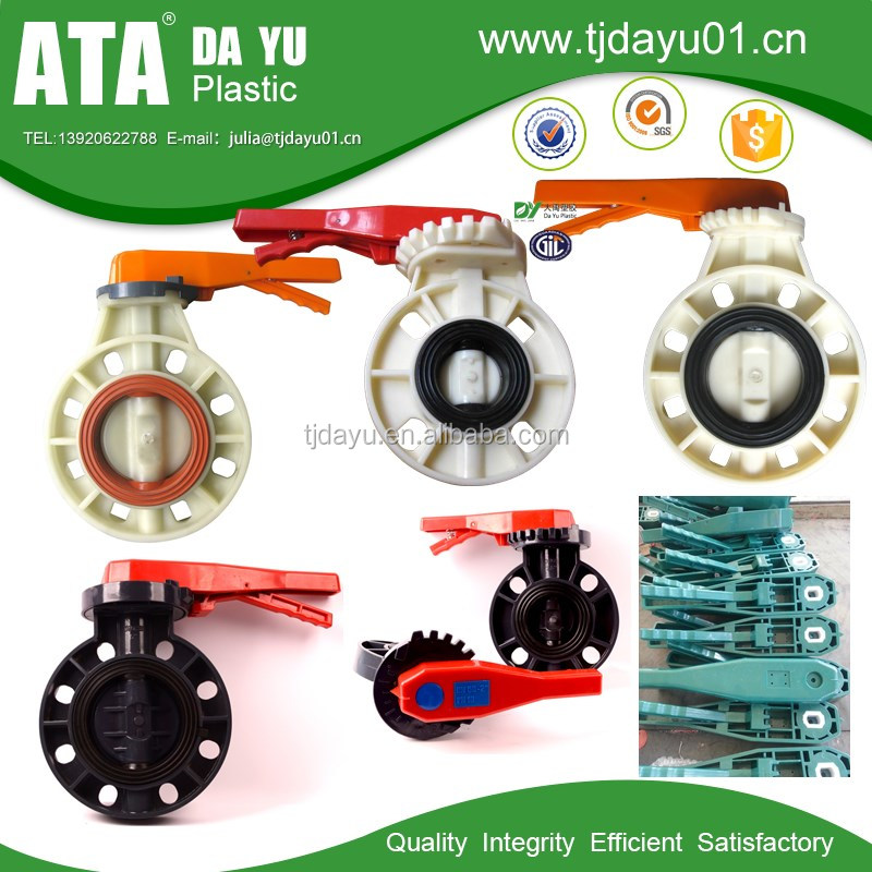 Plastic Butterfly Valves-ABS manual valve OEM Free Logo Free Sample
