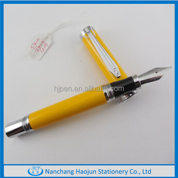 Cheap Metal Fountain Pen with Gold Nib silver nib made in chinese factory