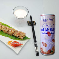 soft drink can be heated---almond juice drink