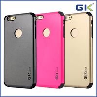 [GGIT] Luxury Smooth 2 in 1 Mobile Phone Case For IPhone 6 Plus TPU+PC Case