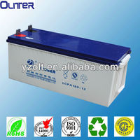 Used in pv power,ups 12v200ah ce,tlc certificate solar pv power battery