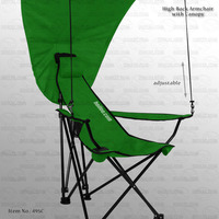 Height Adjustable Furniture Beach Chair with Canopy